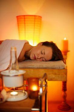 9102317 - beautiful woman relaxing in a massage salon